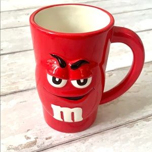 Red M&M Extra Tall 16oz Mug 3 Dimensional Face